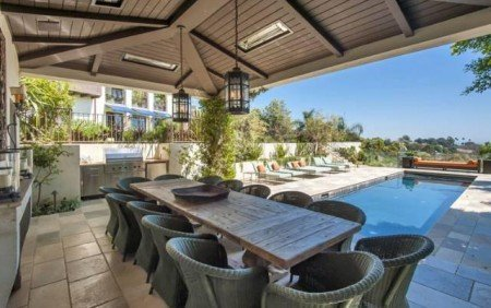 Your Palisades Paint Advantages. A celebrity's backyard in Pacific Palisades.