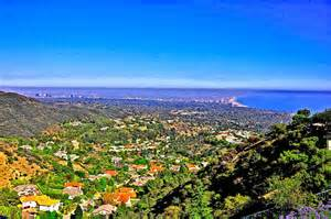 Photos of the Palisades and Surrounding Area. Pacific Palisades looking toward the ocean.